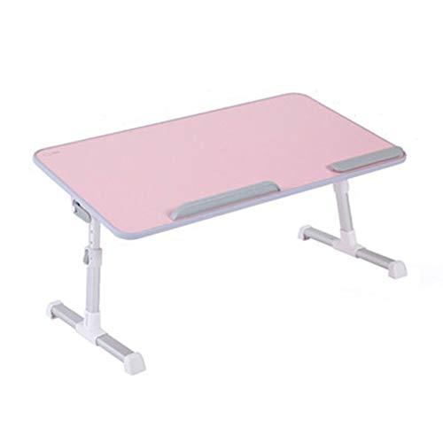 RKRZLB Notebooktisch, Computertisch Verstellbar Für Bett, Sofa Und Boden,für Lesen Oder Frühstücks Und Zeichentisch Laptops Beistelltisch (Color : Pink)