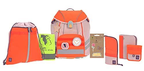 Lässig Ehrlich Brothers School Set Rose/Neon-Orange