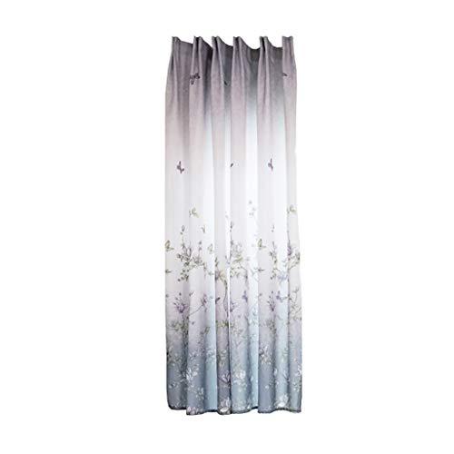 Xmiral Türvorhang Drucken Halbtransparent Kurz Gardine Mit Stangenloch 200cmx100cm Für Kinderzimmer Wohnzimmer Schlafzimmer(H)