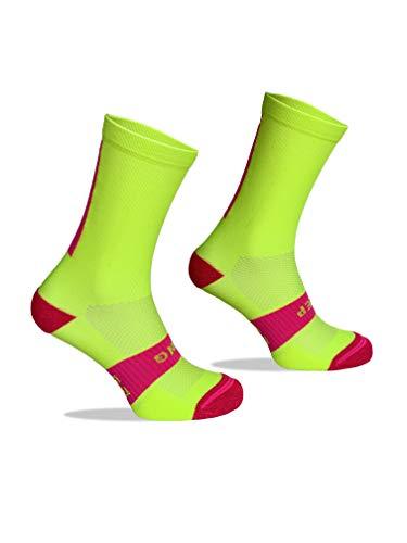 Calcetines Deportivos Técnicos Compresivos, diseñados para el Alto Rendimiento en la Práctica Deportiva de Running, Ciclismo, CrossFit, Gimnasio.Coolmax,Termorregulador y antibacteriano. ⭐