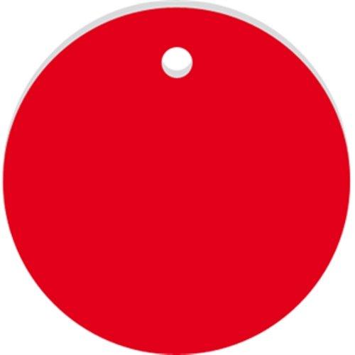 Werkzeugmarken ohne Gravur, Alu, eloxiert, Rot, Ø 3 cm