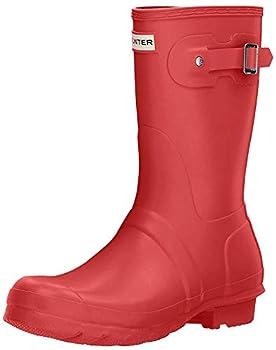 Hunter Womens Original Short Military Red Rain Boot - 7 B M  US
