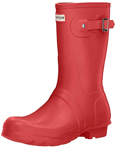 Hunter Original Short - Botas para mujeres, color rojo (military red), talla 38 EU (5 UK)