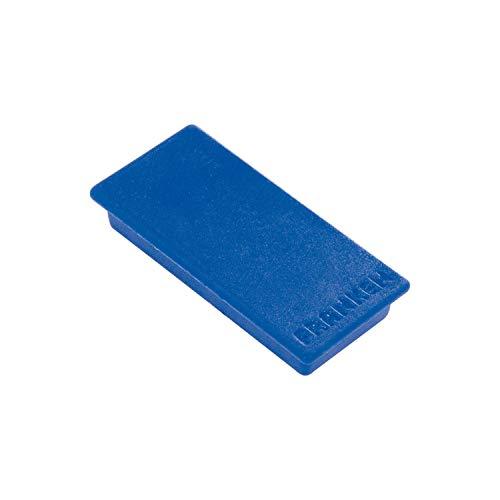 Franken GmbH HM2350 03 Magnet 23 x 50 mm, 10 Stück Haftkraft 1000 g, blau
