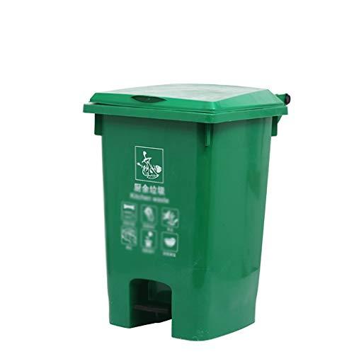 C-J-Xin Fabrik Garbage Sorting Box, wasserdicht leicht zu reinigen Pedal Typ Recycling Bins Dustbins Robustes Design for Terrasse, Garten Hohe Kapazität (Color : Green, Size : 38 * 45 * 61CM)