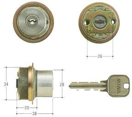 MIWA(美和ロック) U9シリンダー LIXタイプ 鍵 交換 取替え MCY-125 TE0/LIXステンレスへヤーライン色(ST)33~42mm