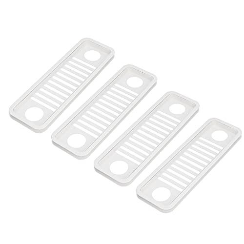 Computer-Host-Kühlblech, 4PCS Computerkabelbox ABS-Material Netzwerkdraht-Lagerregal zum Einfädeln Einer Vielzahl von Büromöbel-Desktops Computertische(Weiß)