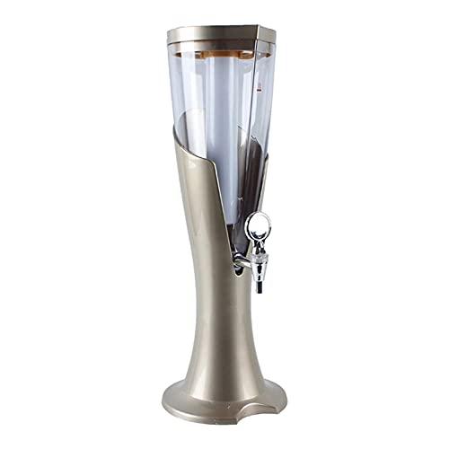 LIXIAOLIANSD Dispensador de Bebidas Dispensador de Torre de Cerveza 1.5L, dispensador de Bebidas de Vino de Zumo de Bebidas claras, con Luces de Colores y Tubo de Hielo extraíble, fácil de Limpiar, l