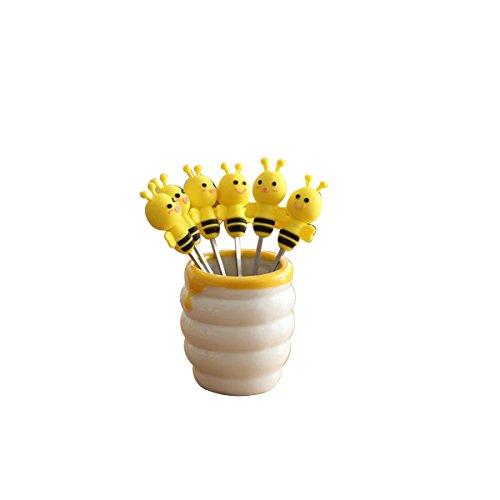 OUNONA 6pcs de acero inoxidable Mini tenedores de postres Se