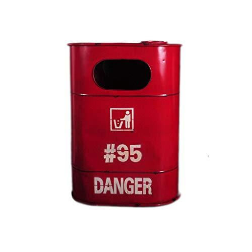 Bacs à ordures extérieurs Déchets et recyclage Américain Loft Rétro Fer Poubelles extérieures Éolienne Industrielle Grand Cuvette de Pétrole Créative Modélisant Des Déchets De Compostage Bacs à ordure