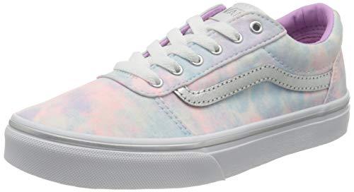 Vans Ward Canvas Sneaker, Glitter Tie Dye Multi White, 5 UK