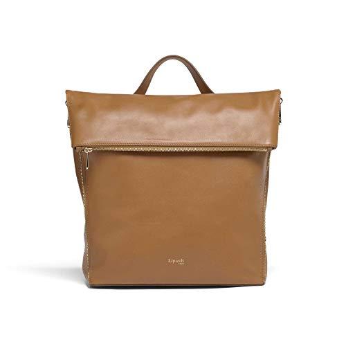 Lipault - Rendez-Vous Leder-Rucksack - mittelgroße Schultertasche für Damen, Braun (caramel), Medium