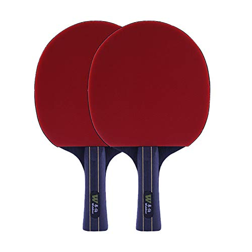 Best Review Of 7 Layers of Pure Wood Table Tennis Bat,Beginners Ping Pong Paddle-Band Case,for Indoo...