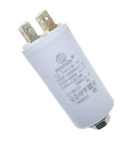 Condensador universal Mondo Start/RUN de 12,5 µF 450 V, blanco