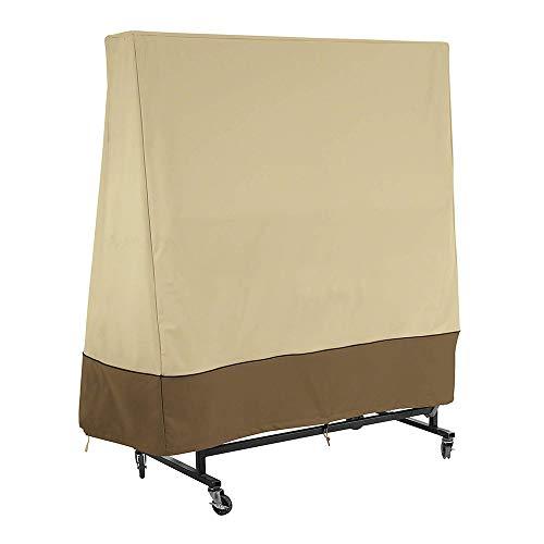 Funda para mesa de ping, mesa de tenis de mesa, funda impermeable para mesa de ping Pong 165 x 70 x 185 cm, color beige