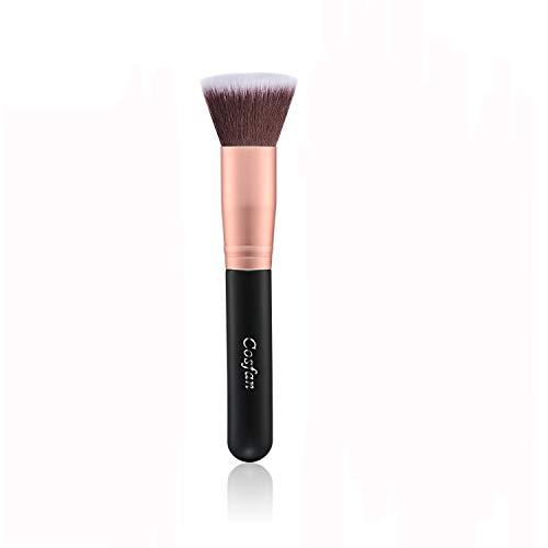 Pinceau Fond de Teint Professionnel Kabuki pour Maquillage du Visage - Parfait Pour le Mélange Liquide, Crème ou Poudre Cosmétique Sans Défaut - Polissage, Pointillé, Anticernes