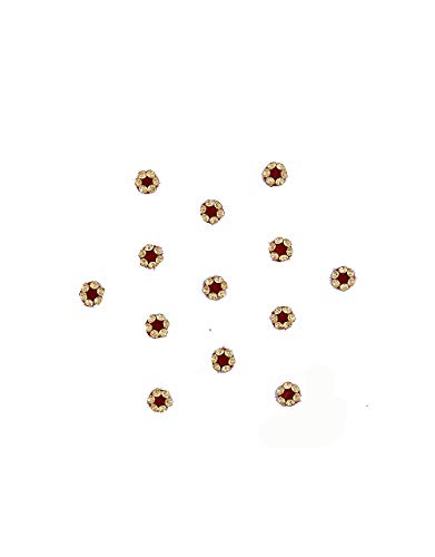 Richie Rich Maroon Colour Bindis For Ladies Stone Designer For...