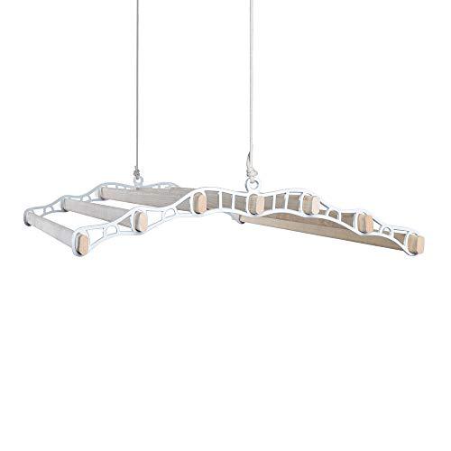 Thatch&Stone 7 lath tak remskiva hängande kläder luftare hylla för kök, verktyg, tvätt, garage 1.8Metre Vitt