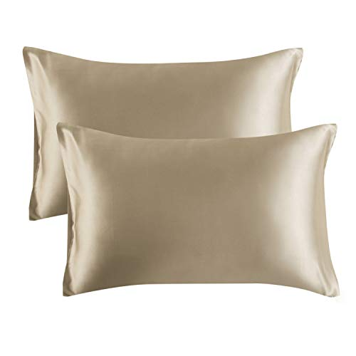 Bedsure Satin Pillowcase for Hair and Skin, 2-Pack - Queen Size (20x30...