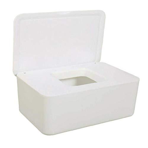 ZYCX123 Caja de Almacenamiento de lámina de Tela de toallitas secas Wet servilleteros dispensador con Tapa para Home Office Blanca Vacaciones de GFT