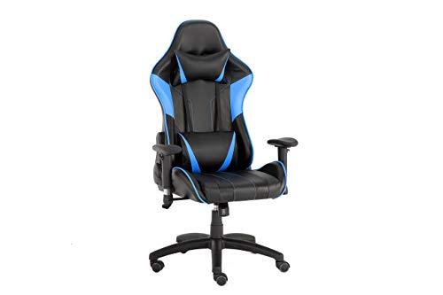 Gaming-Stuhl mit Armlehnen, verstellbar, neigbar, Schwarz & Blau
