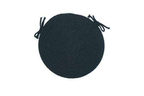 Solid Color Braided Rugs 15-inch  Navy