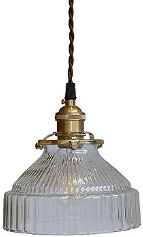 Wapipey Kupfer Glas Pendelleuchte E27 Nordic Minimalist Retro Nostalgische Metall Hngelampe Restaurant Droplight Porch Nachttischlampe Kronleuchter Deckenleuchte