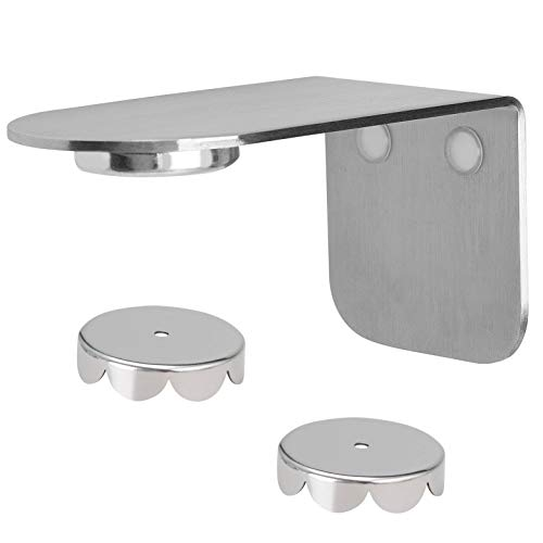 bremermann Magnet-Seifenhalter PUREZZA - frei hängende Seife durch Magnet - Kleben oder Bohren (Edelstahl matt)