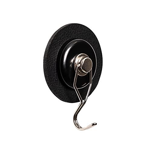 silwy Magnet-Haken The ONE mit Metall-Nano-Gel-Pad in 6,5 cm Black, wiederverwendbar, flexibel einsetzbar
