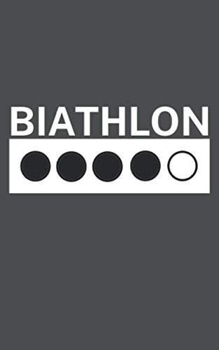 Biathlon: Notizbuch mit Biathlon oder Zweifach-Kampf Design. 120 Seiten mit Seitenzahlen. Für Notizen oder als Geschenk für Biatlethen.
