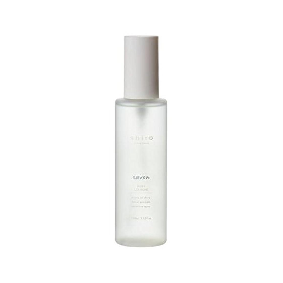 お別れ笑気性shiro サボン ボディコロン 100ml 清潔で透明感のある自然な石けんの香り ミスト シロ