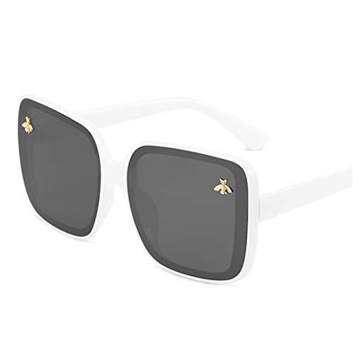 HAOMAO Gafas de Sol polarizadas Redondas de Abeja para Hombres, Mujeres, conducción, Viajes, Gafas Uv400, Plata