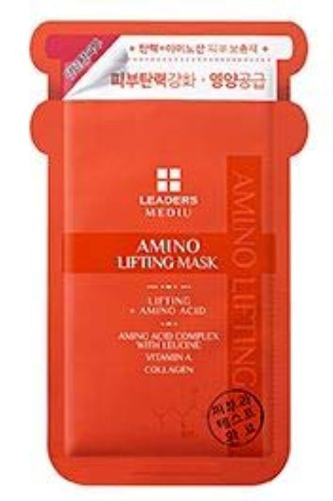 州砲撃クライマックス[LEADERS] MEDIU Amino Lifting Mask 25ml*10ea / リーダースアミノリフティングマスク 25ml*10枚 [並行輸入品]