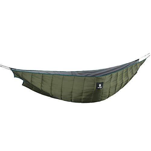 OneTigris Isomatten Underblanket für Doppelthängematten Shield Cradle Underquilt - 2 Personen, 3 Jahreszeiten |MEHRWEG Verpackung (Armee Grün)