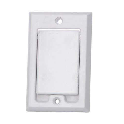 Saugdose rechteckig Design Nordamerika Farbe Weiß, Zentralstaubsauger Steckdose, 80x124mm, 2 Kontaktstifte, Öffnung 36-38mm