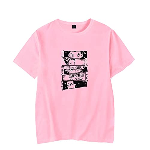 Rileyxxshop - Camiseta Unisex de Hunter X Hunter, Anime Killua Gon Hisoka, Estampado gráfico, Disfraz de Cosplay, Camisetas de Manga Corta, Ropa Informal, patrón Frontal