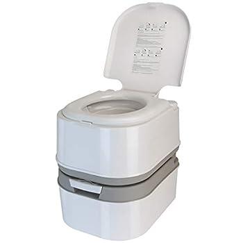 BB Sport Mobile Toilettes de Camping, WC Chimiques 24 l avec Pompe à Piston et Compartiment pour Papier Toilette, Hauteur d'assise de 44 cm