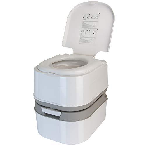 BB Sport Mobile Campingtoilette 24l mit Kolbenpumpe und Toilettenpapierfach tragbares Reise WC
