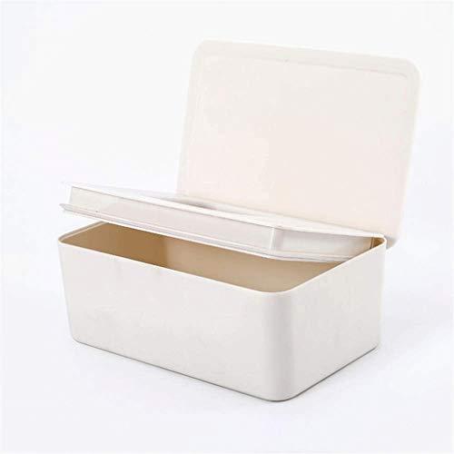 ZJHDX Tissue Box - Tissu Boîte rectangulaire, Porte-Papier en Plastique/Distributeur, Papier de Couverture du Visage Moderne à Fond for Salle de Bain WC/Cuisine/Voiture/Bureau