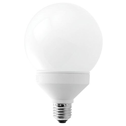 Bombilla de Globo de bajo consumo 23W rosca E27 Luz blanca 4200K, diámetro 110mm. Con solo 23W proporciona una luz equivalente a 115W.