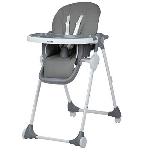 Safety 1st Looky Seggiolone Pappa Pieghevole con Imbottitura, Reclinabile, per Bambini 6 Mesi -3 Anni, Colore Warm Grey