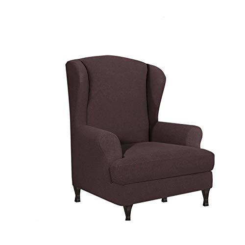 Stretch Wing Chair Covers, Soft Jacquard Fabric Wingback Chair Schonbezüge Maschinenwaschbare Möbelschutzhülle-D-2Fall