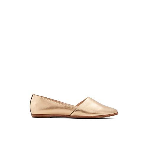 ALDO Women's Blanchette Slip-On Flat Loafer, Bronze, 5
