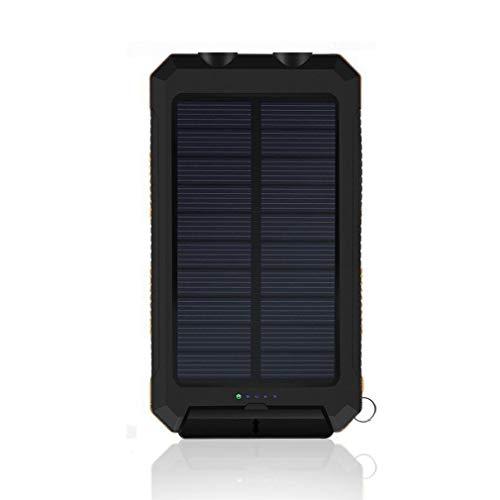 Cargador rápido del Viaje del teléfono móvil del Banco de la energía de la batería Solar Externa de 8000mAh (Negro Anaranjado)
