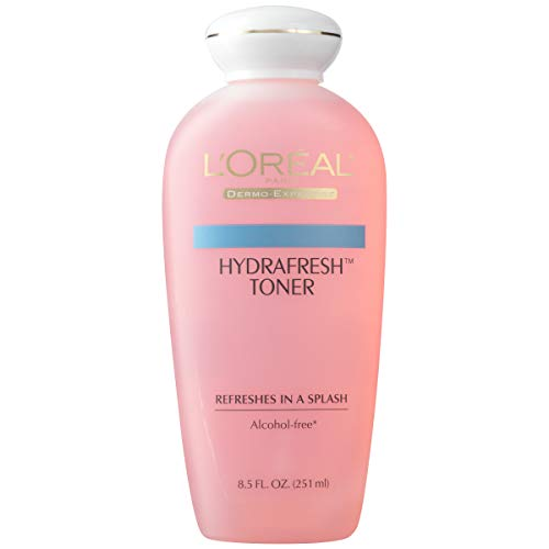 L'Oréal Paris Skincare HydraFresh Toner, Alcohol Free Toner with Pro-Vitamin B5 for Face, 8.5 fl. oz., Packaging May Vary