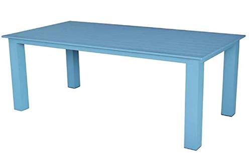 PEGANE Table rectangulaire en Aluminium Coloris Bleu - Dim : 200 x 100 cm