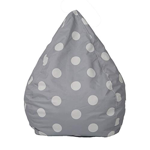 N /D Bean Bags Chair Cover Stuffed Animal Storage Indoor Outdoor for Kids Teens Adults/Beans not Included (Big Dots, Small/23.6'*29.5')