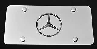 Mercedes-benz 3d Chrome Emblem Stainless Steel License Plate Chrome