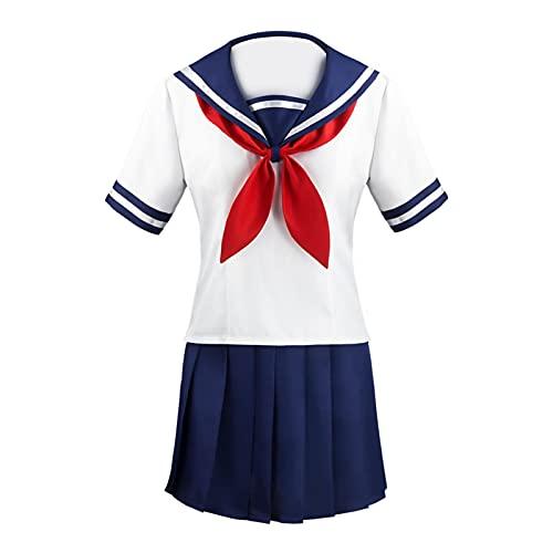 JK Cosplay Costume Filles École Japonaise Jupe Plissée Uniforme Femmes Japonaises Écolière Cosplay Costume Uniforme Costume Jupe Plissée avec Badge Cravate Ensemble