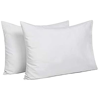 TILLYOU Toddler Travel Pillowcases Set of 2, 14x20- Fits Pillows Sized 12x16, 13x18 or 14x19, 100% Silky Soft Microfiber, Envelope Closure Machine Washable Kids Pillow Cases, Pale Gray